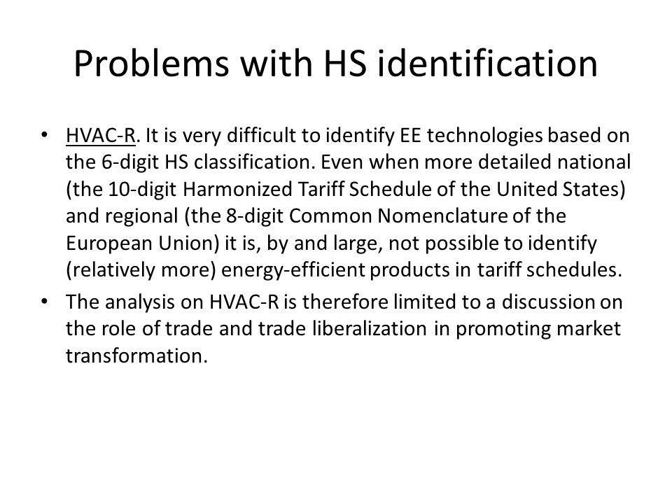 Problems with HS identification HVAC-R.