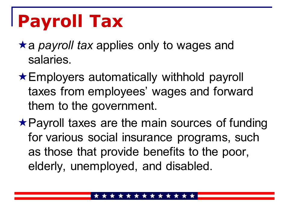 Corporate Income Tax All corporations in the United States and Canada must pay tax on their net income (profits) to the federal government and also to most state or provincial governments.