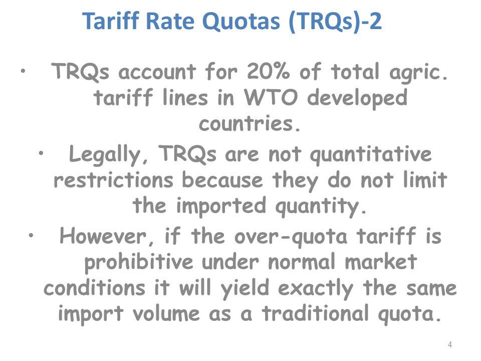 Tariff Rate Quotas (TRQs) Reforms.