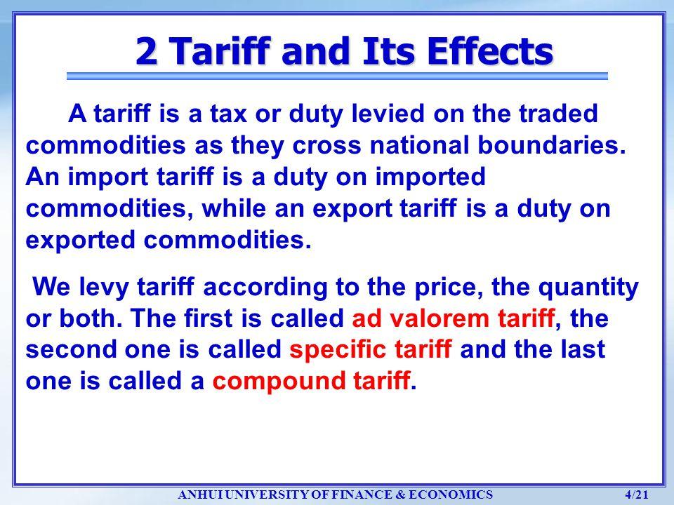 ANHUI UNIVERSITY OF FINANCE & ECONOMICS 15/21 Px/ Py=0.625, Py/Px=1/ 0.625=1.6 5 Optimum Tariff and Retaliation
