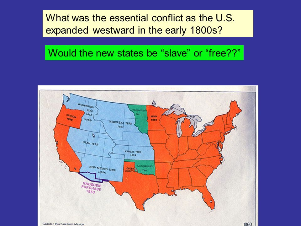 Would the new states be slave or free