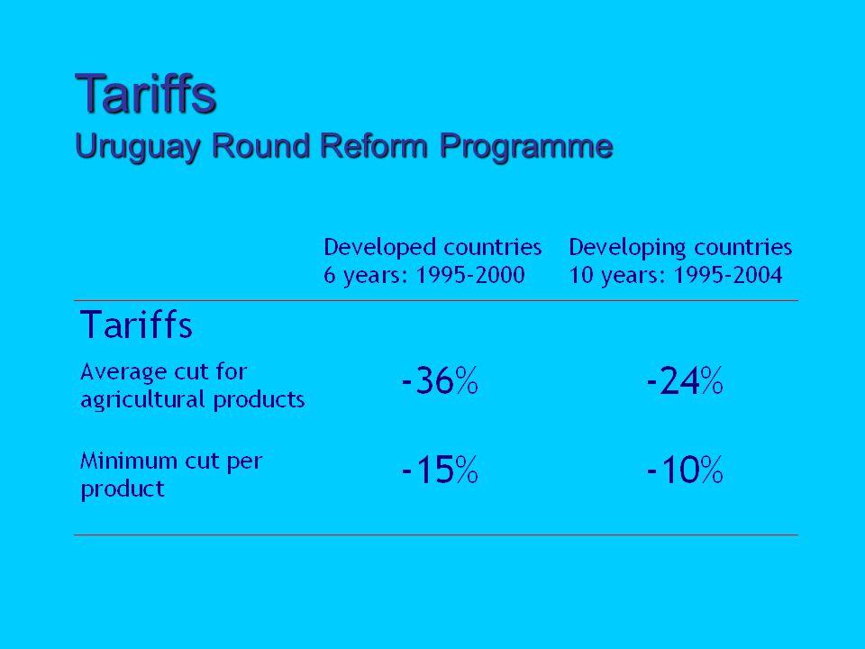 Tariffs Uruguay Round Reform Programme