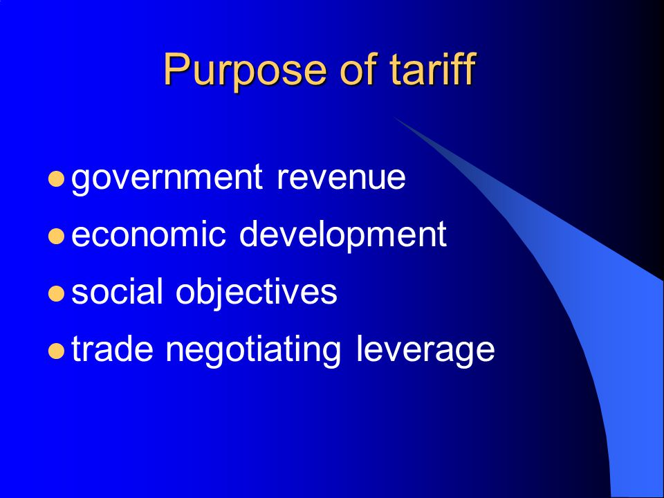 Tariff bindings bound rates of duty unbound rates of duty ceiling bindings applied tariff rates