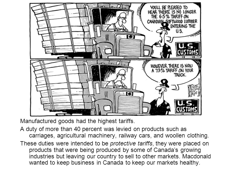 The depression of the 1870s led many Canadians to believe that the countrys economy had become overly dependent upon the exploitation of staples products including lumber, coal, steel, fish, and fur.