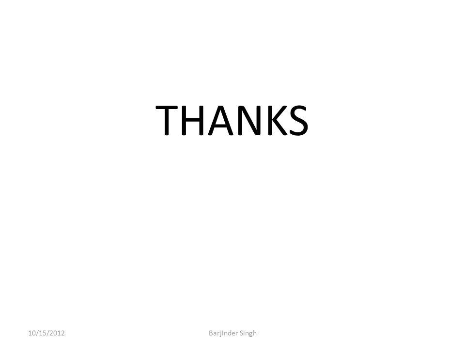 THANKS 10/15/2012Barjinder Singh