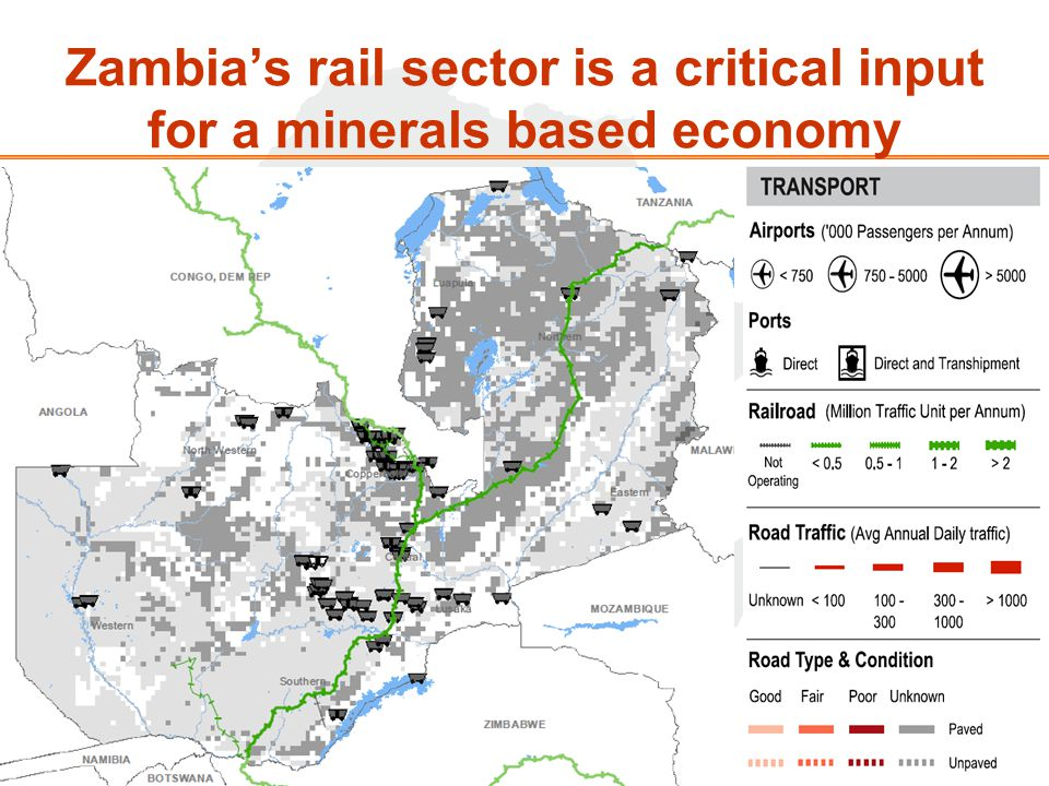 Zambias rail sector is a critical input for a minerals based economy