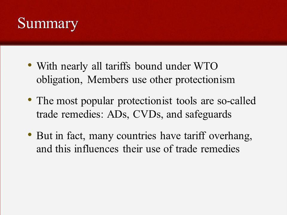 WTO builds in flexibility, allowing Members to temporarily abrogate obligations in hard times.