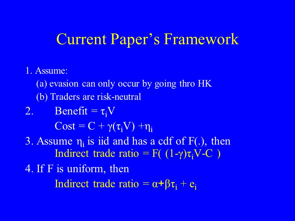 Current Papers Framework 1.
