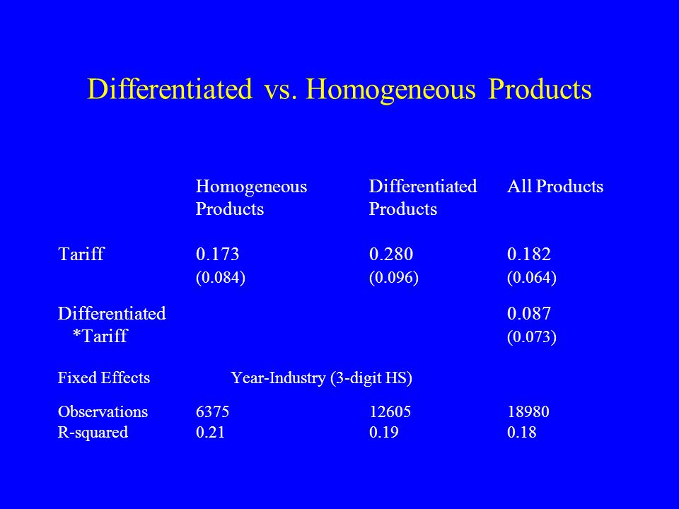 Differentiated vs.
