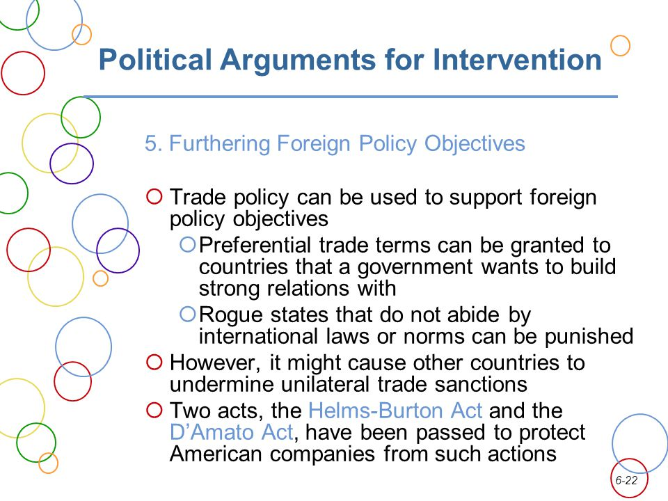 6-22 Political Arguments for Intervention 5.