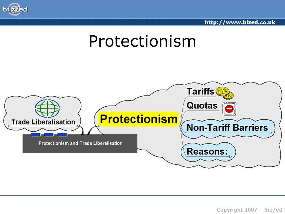 http://www.bized.co.uk Copyright 2007 – Biz/ed Protectionism