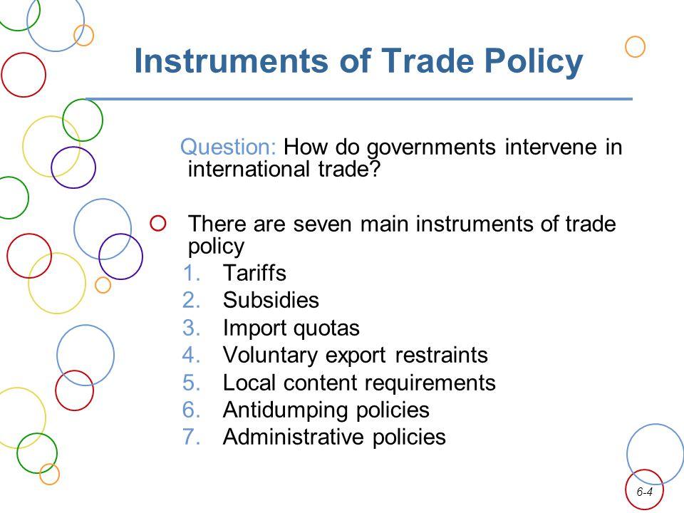 6-25 Economic Arguments for Intervention 1.