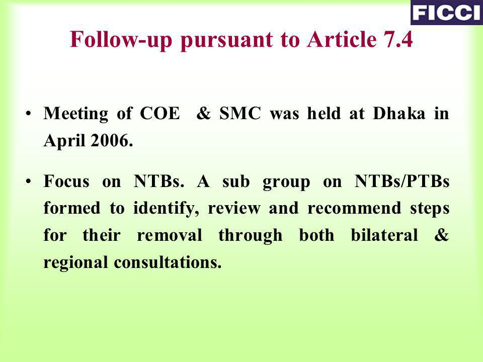 Meeting of COE & SMC was held at Dhaka in April 2006.
