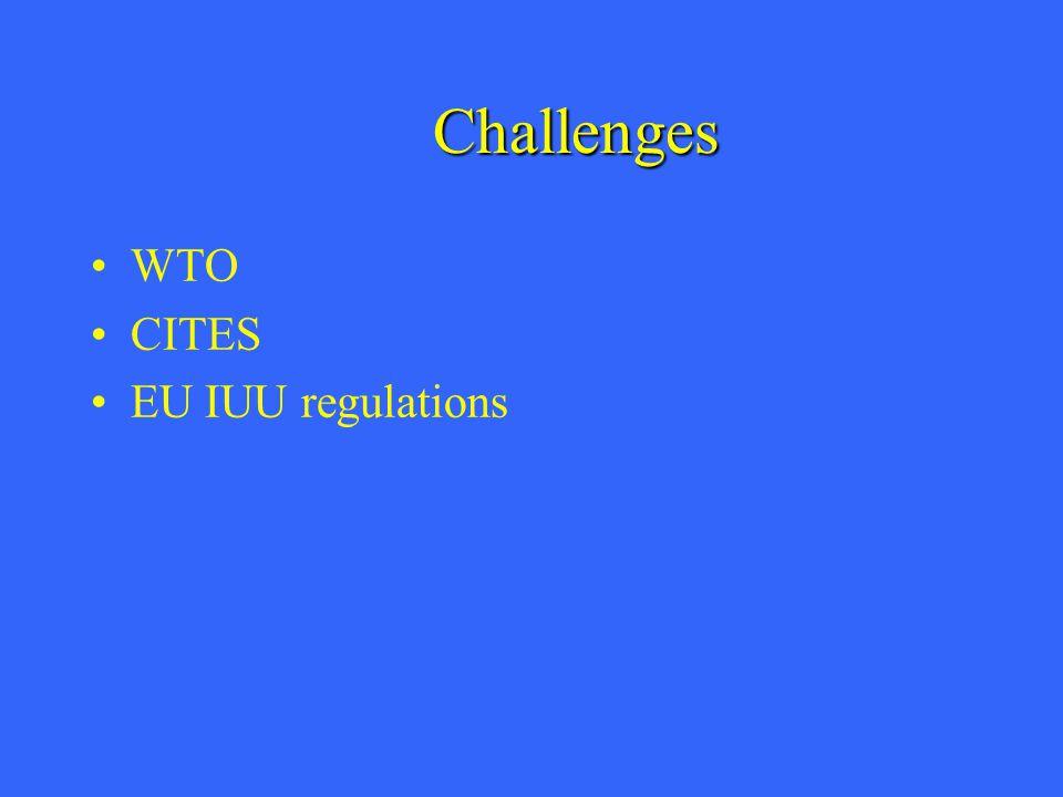 Challenges WTO CITES EU IUU regulations