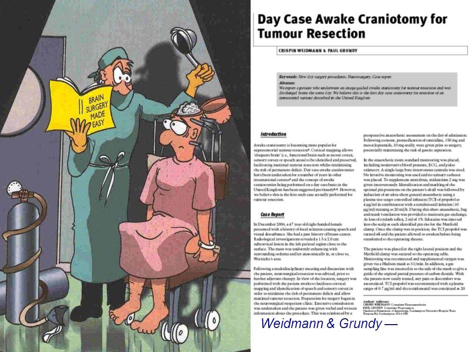 Day Case Brain Surgery? Weidmann & Grundy J One-day Surg 18: 45, 2008