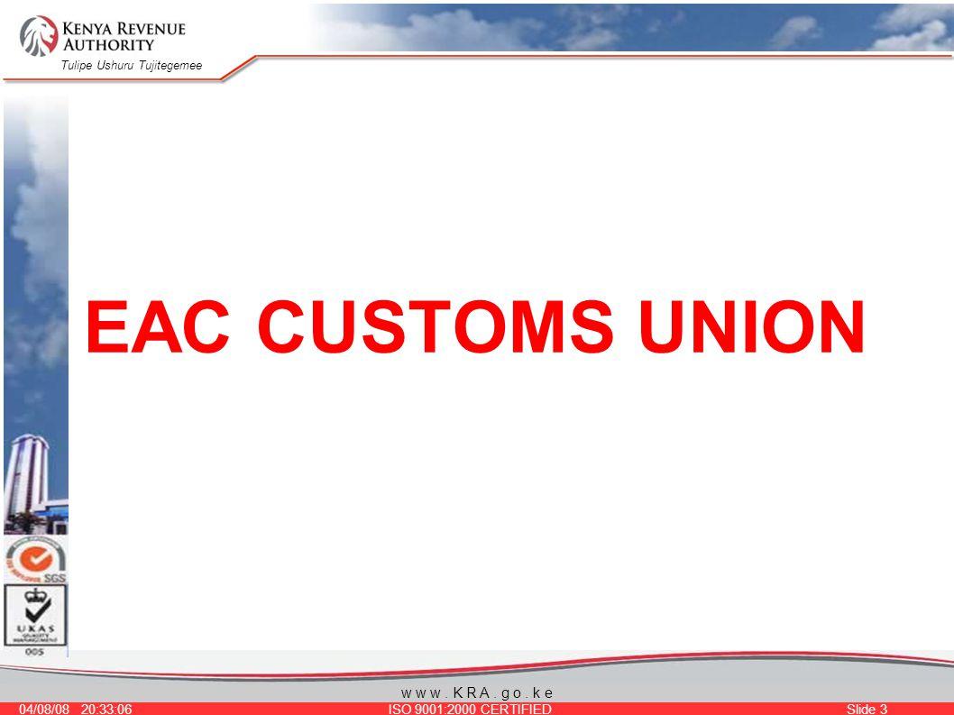 Tulipe Ushuru Tujitegemee 04/08/08 20:33:06 ISO 9001:2000 CERTIFIED Slide 3 w w w.