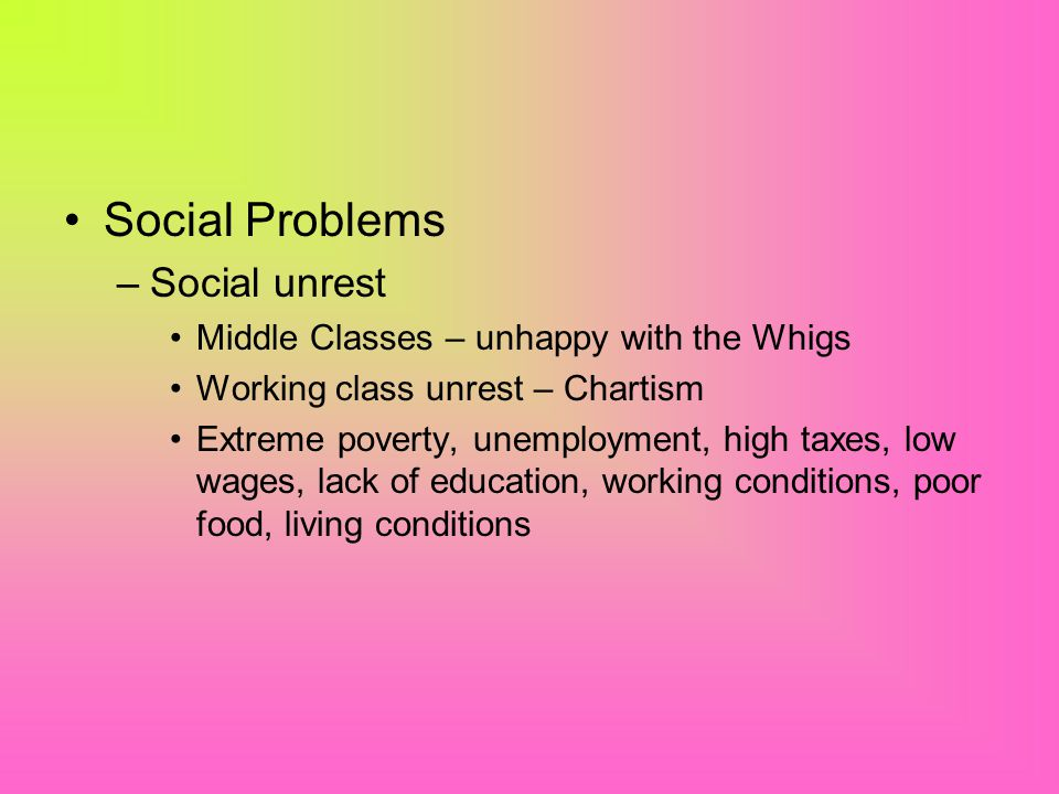 Social Reforms Peel was aware of the terrible conditions in some factories and towns.