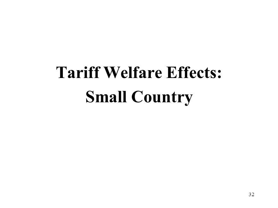 32 Tariff Welfare Effects: Small Country