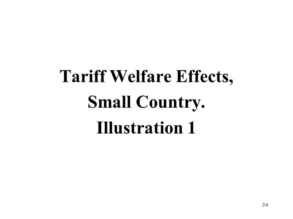 34 Tariff Welfare Effects, Small Country. Illustration 1