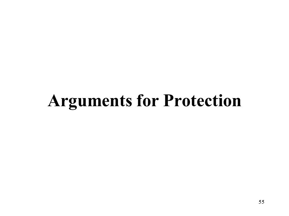 55 Arguments for Protection