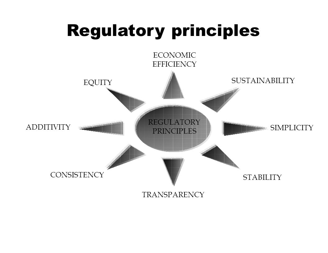 Regulatory principles Sustainability: guarantee of recovery of all regulated costs so that the electrical power sector is economically viable Equity or Non Discrimination in the allocation of costs to consumers: Same charge should apply to the same provision of a service, regardless the end use of the electricity.