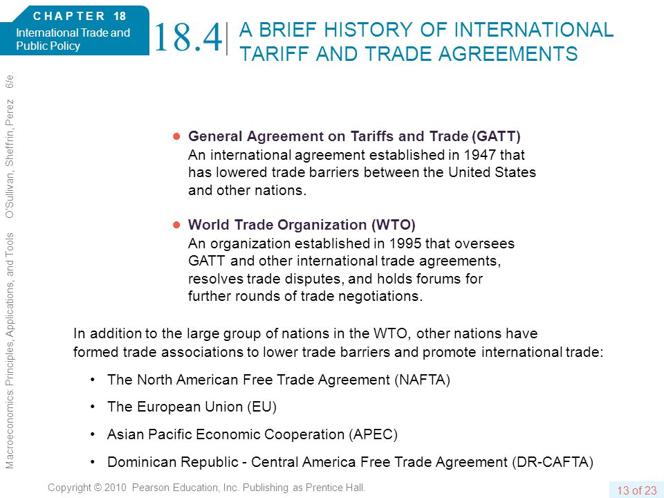 C H A P T E R 18 International Trade and Public Policy 13 of 23 Copyright © 2010 Pearson Education, Inc.