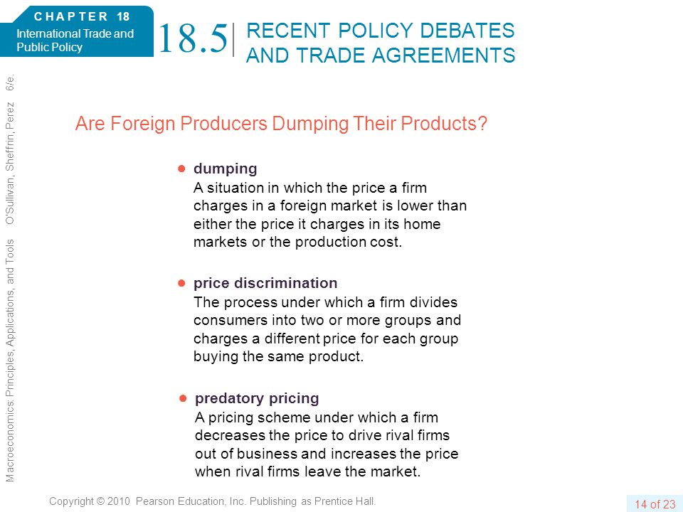 C H A P T E R 18 International Trade and Public Policy 14 of 23 Copyright © 2010 Pearson Education, Inc.