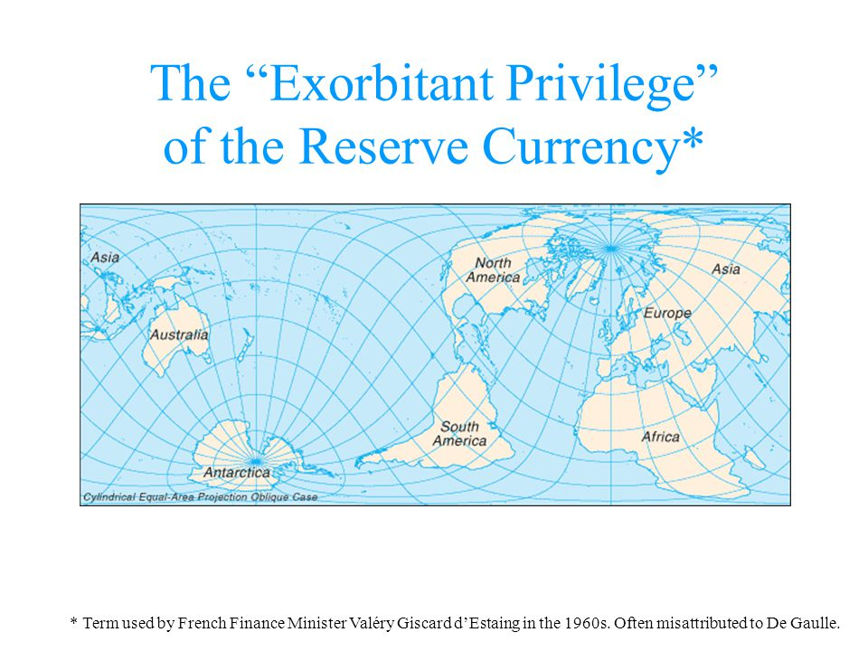The Exorbitant Privilege of the Reserve Currency* * Term used by French Finance Minister Valéry Giscard dEstaing in the 1960s. Often misattributed to