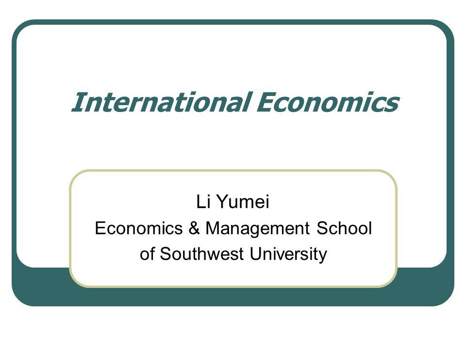 International Economics Chapter 8 Trade Restrictions: Tariffs