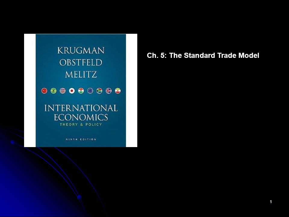 1 Ch. 5: The Standard Trade Model