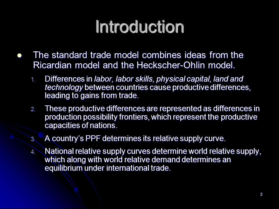 1 Ch. 5: The Standard Trade Model
