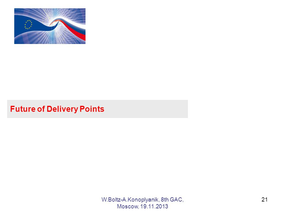 Future of Delivery Points 21W.Boltz-A.Konoplyanik, 8th GAC, Moscow,