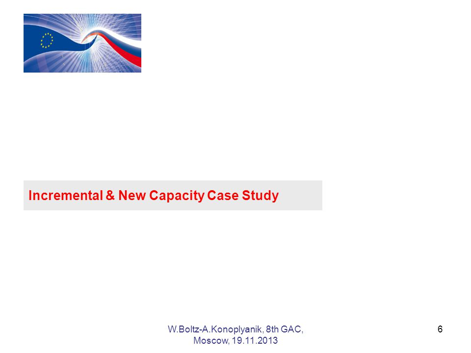 6 Incremental & New Capacity Case Study W.Boltz-A.Konoplyanik, 8th GAC, Moscow,