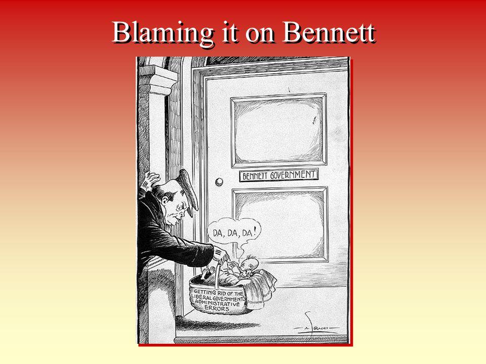 Blaming it on Bennett