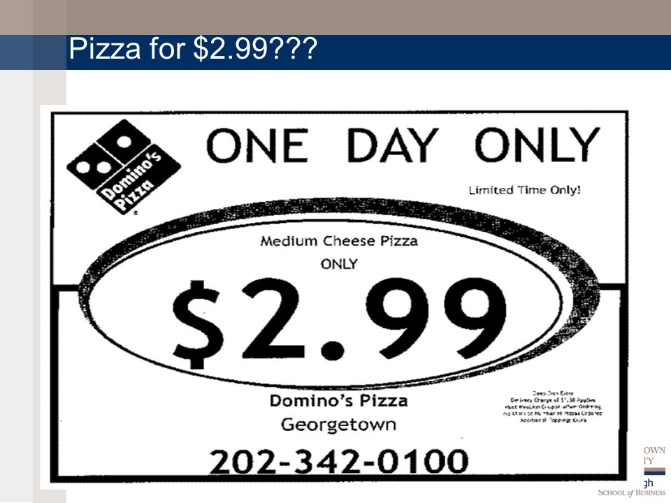 Pizza for $2.99