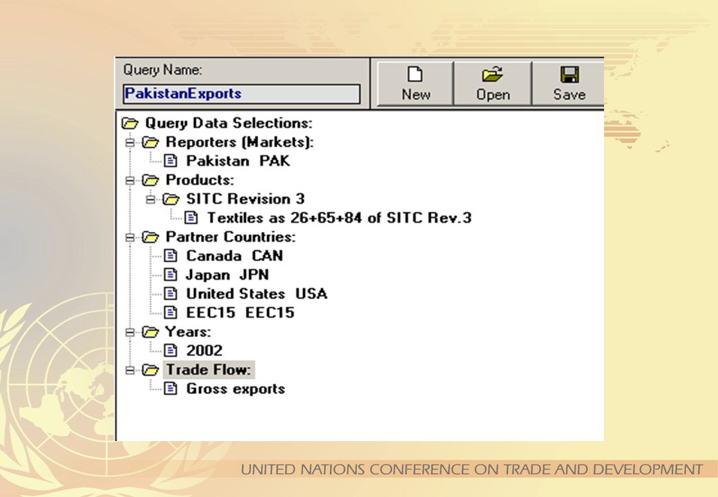 Selecting Partners Now, click on the Partner Countries folder.