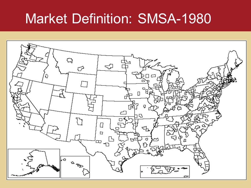 Market Definition: SMSA-1980