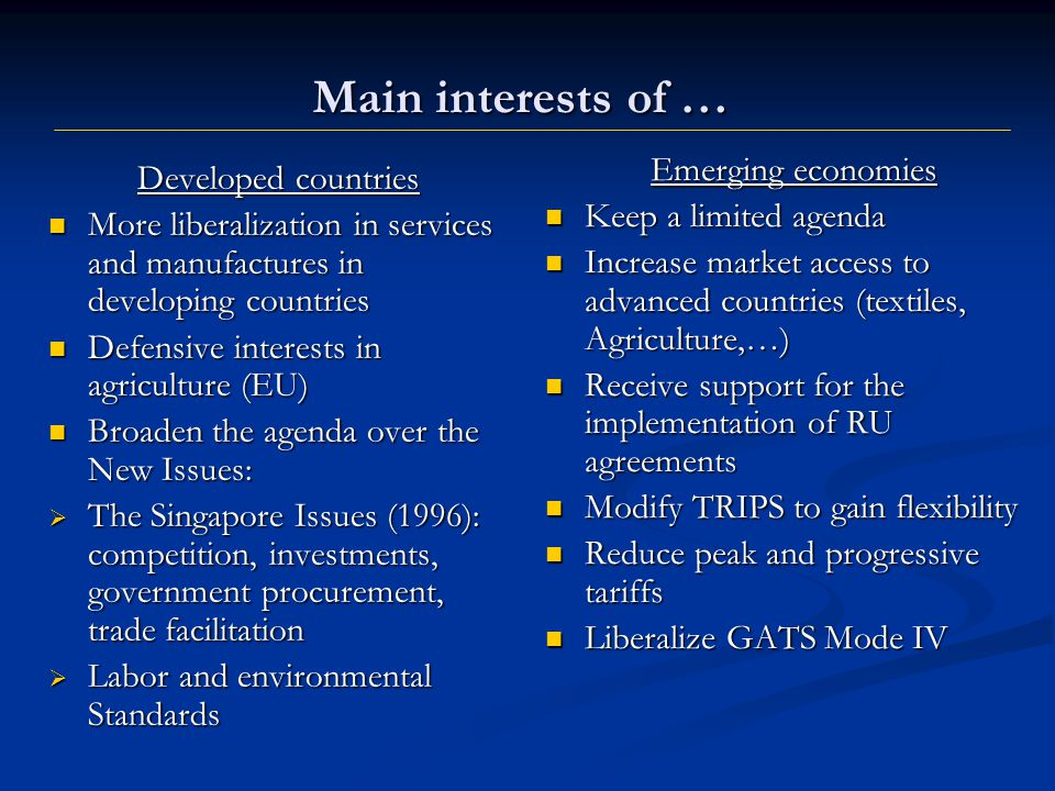 The biggest conflict is in the new issues They are trade-related.