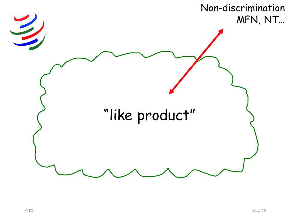 WTOSlide 10 like product Non-discrimination MFN, NT…
