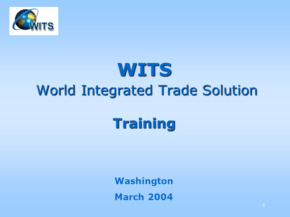 52 TRAINS – Trade, Tariffs & NTBs We select United States as for the Market, Year 2000, we keep the native Nomenclature (HS 1996) and select chapter 61 as for the Product category.