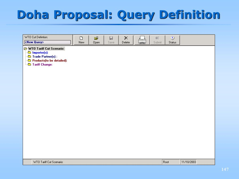147 Doha Proposal: Query Definition