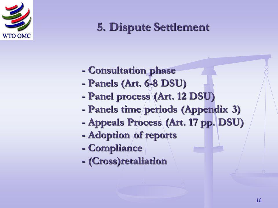 10 - Consultation phase - Panels (Art.6-8 DSU) - Panel process (Art.