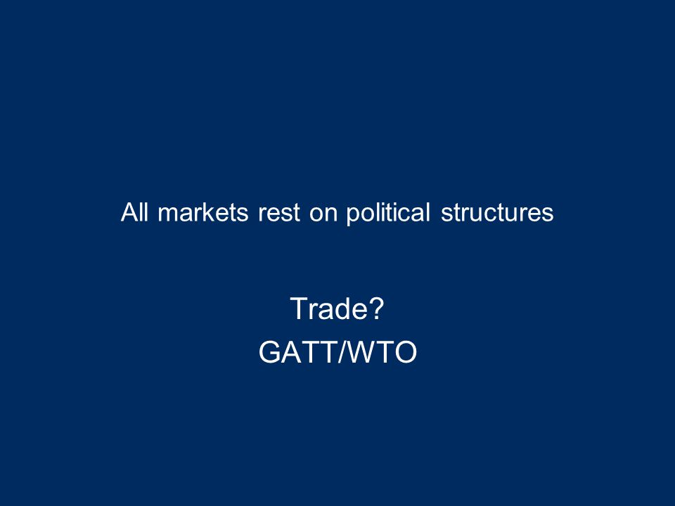Plan What is the WTO? Regional Trade Arrangements Prospects for opening free trade