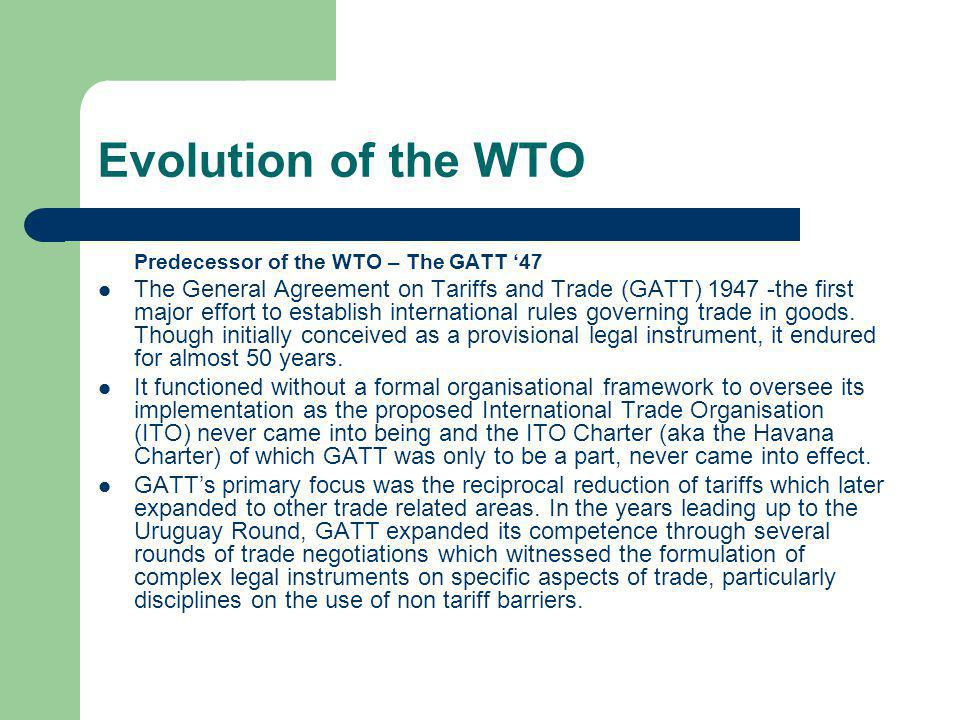 Cont.Trade in services under the GATS is defined in terms of four modes of supply.