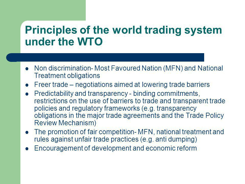 Organisational structure of the WTO Ministerial Conference- The apex body for decision making (meets every 2 years).
