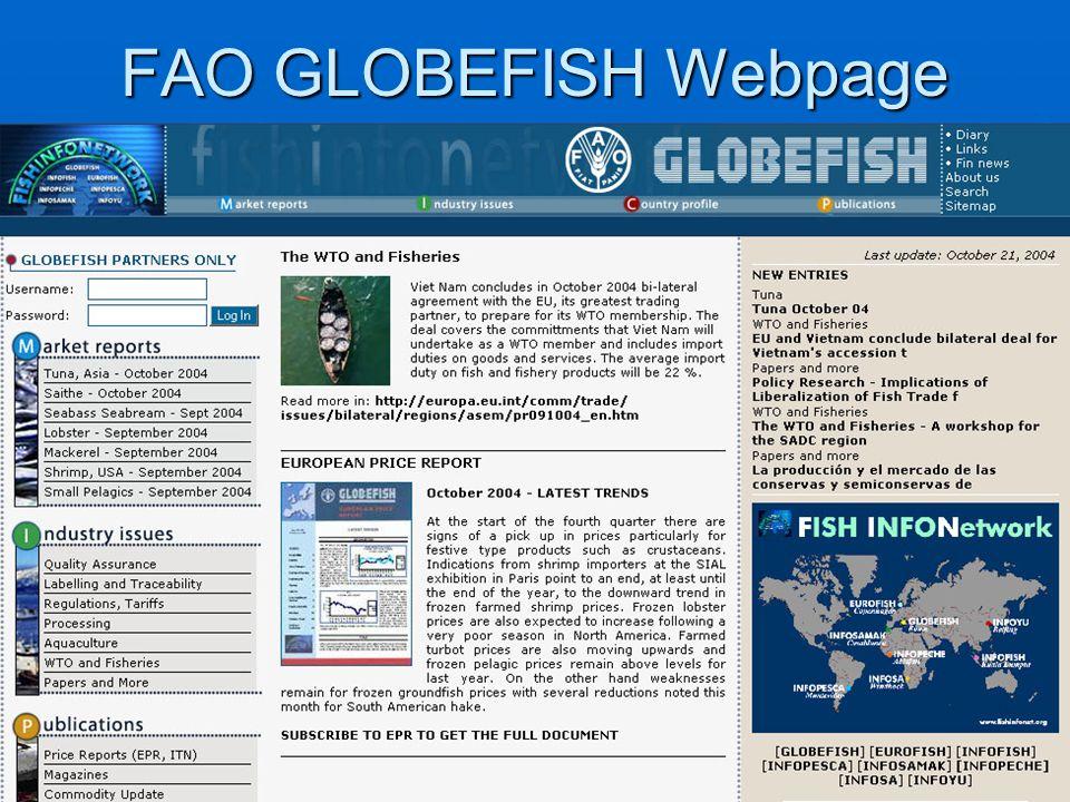 FAO GLOBEFISH Webpage