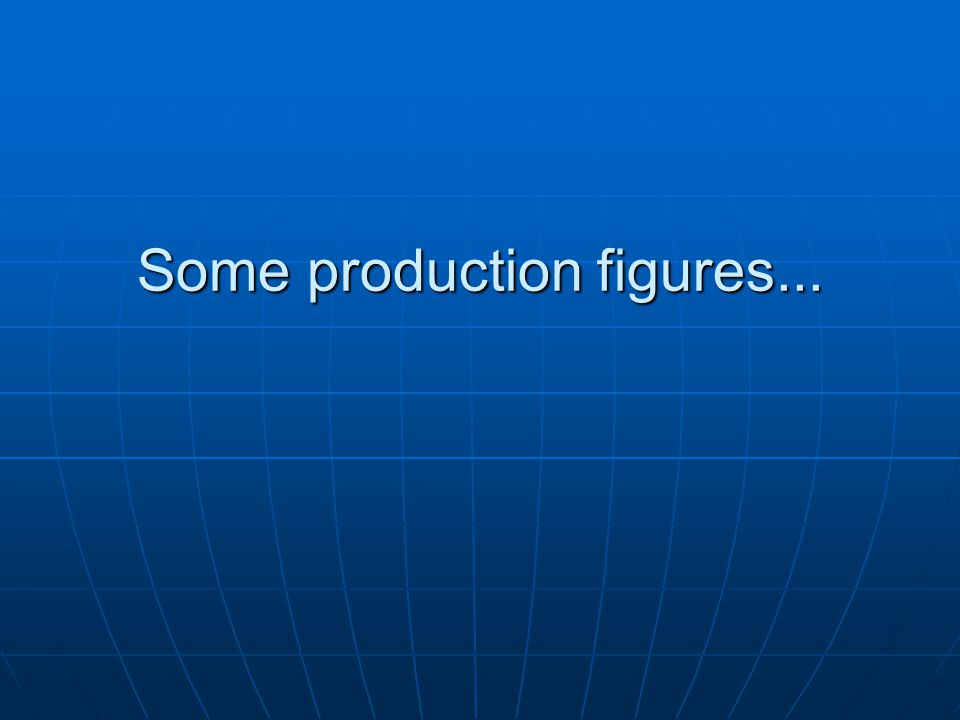 Some production figures...