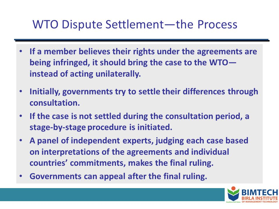 How, then, can cooperation be achieved? Repeated interaction + Threat of retaliation WTO members have agreed to confer to the WTO the right to set the