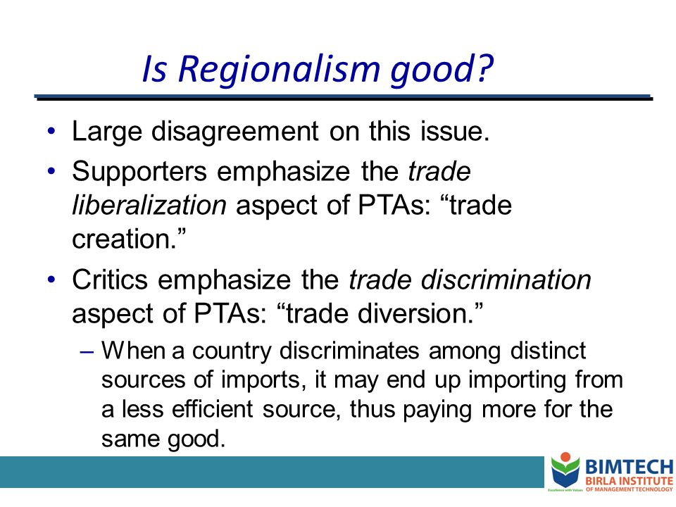 PTAs in the Rest of the World ANZCERTA (1983) – FTA between Australia and New Zealand. Asia – Several attempts but so far little intra-bloc free trade