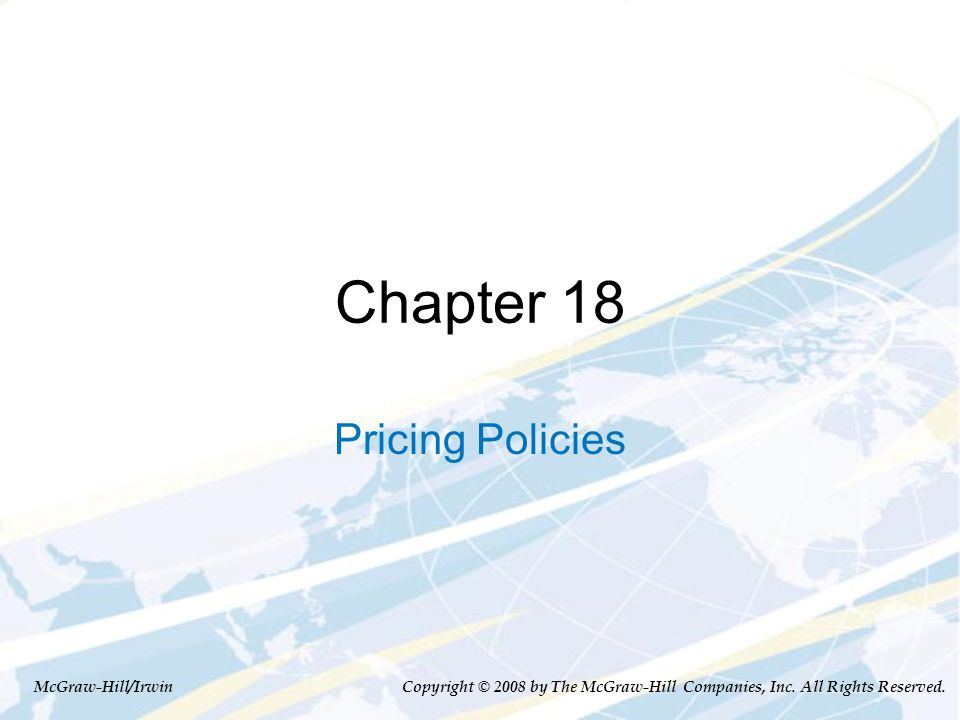 Main Topics Price discrimination: pricing to extract surplus Perfect price discrimination Price discrimination based on observable customer characteristics Price discrimination base on self- selection 18-2